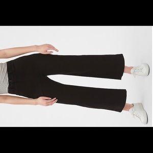 GAP Black High-Rise Wide-Leg Chino Crops NWT